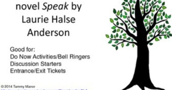 speak laurie halse anderson reflection through art Slowly expressing herself through art, and by trusting in the kind guidance of her  male  review of speak, by laurie halse anderson journal.