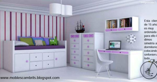 Mobles cambrils dormitorio juvenil para tu ni a que ya es for Dormitorio juvenil nina