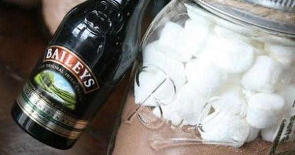 Adult Hot Chocolate Mason Jar Gift (Hot chocolate + Baileys) (Like the ...