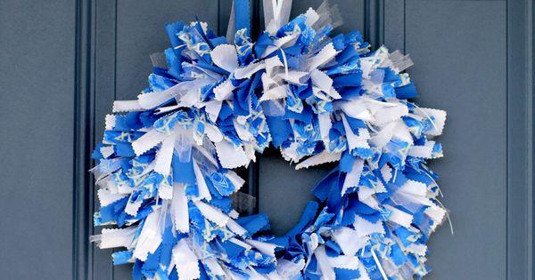 /Hanukkah Fabric Wreath - Star of David Print. | Channukah / Hannukah ...