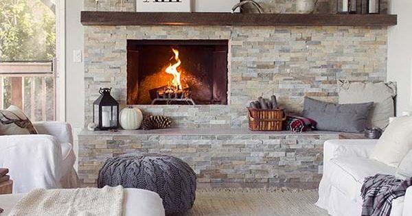 Sensational stone fireplaces to warm your senses  Fireplaces, Mantle ...