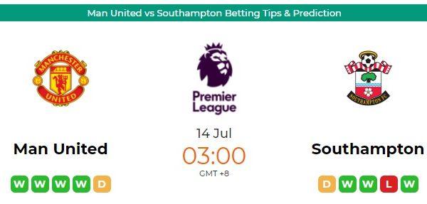 Man United Vs Southampton Betting Tips Prediction In 2020 Southampton Football Man United Predictions