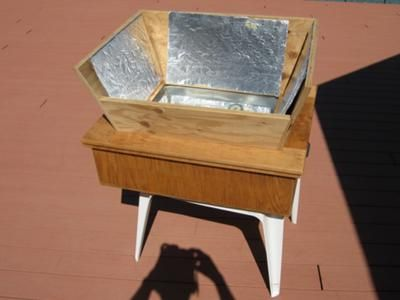 Wooden Box Solar Oven Here Is The Wooden Box Cooker Made Of 0 5 In Plywood Panels With A Window Area Of 19in X 14 In A Sta Wooden Boxes Solar Oven Wooden