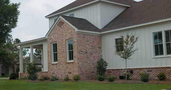 Some Brick With All Vertical Siding House Exterior Vertical Siding Vertical Siding Exterior
