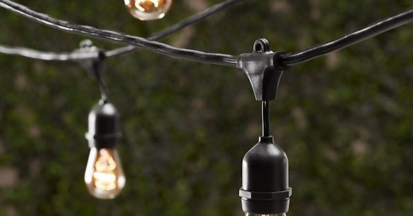 These Vintage Light Strings ($180) combine the look of an Edison bulb