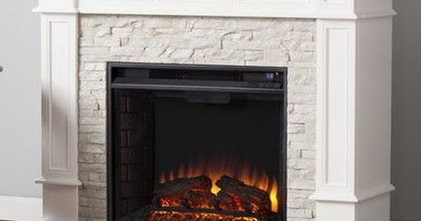 Wildon Home Frazier Faux Stone Corner Convertible Electric Fireplace Products Pinterest