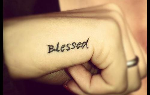 Blessed Tattoo ink tattoos