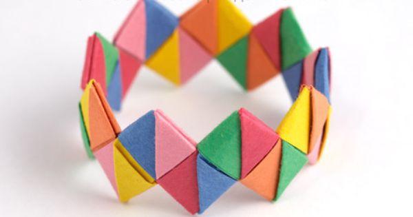 Paper Bracelet Paper Bracelet Origami Jewelry Paper Crafts For Kids