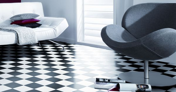 texline essence damier black and white gerflor design flooring vinyl flooring pinterest. Black Bedroom Furniture Sets. Home Design Ideas