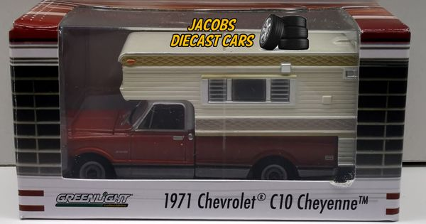 1:64 greenlight 1971 chevy c10 cheyenne with large camper (hobby exclusive) | Chevrolet, Diecast ...