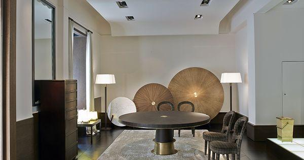 Promemoria Dining Table Wood amp Bronze Chairs Bilou