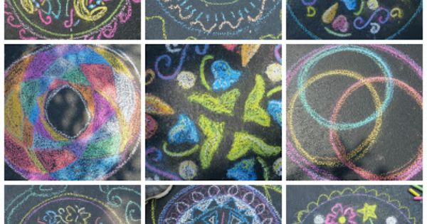 Chalk Mandalas Pink And Green Mama Ravensburger Mandala