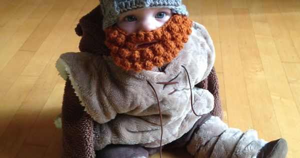 baby viking hut mit bart baby baby wikinger m tze mit abnehmbaren bart bart knitting. Black Bedroom Furniture Sets. Home Design Ideas