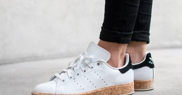 basket adidas stan smith luxe w white black cork pas cher 1 sneaker love pinterest. Black Bedroom Furniture Sets. Home Design Ideas