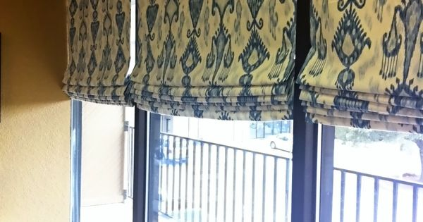 How To Make Lined Roman Shades With Mini Blinds Sewing