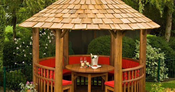 Modern Circular Wooden Gazebos Circular Wooden Gazebos Small Dining Set Furniture Patio