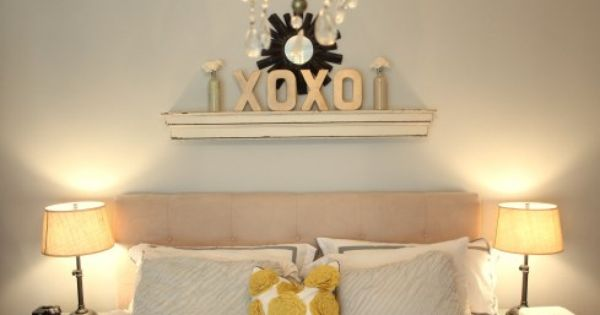 For Above The Bed In Master Bedroom Have Letters Just Need Shelf Spray Paint And Decor