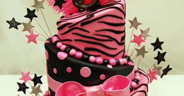 5th birthday pink zebra cake :)