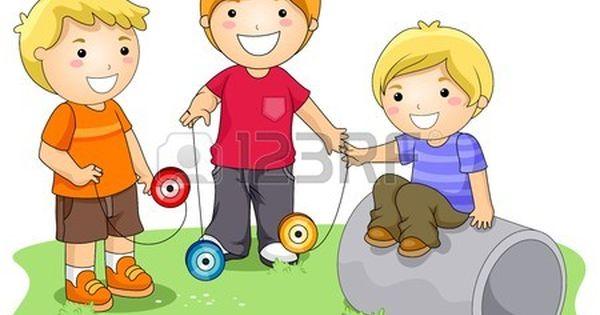 Ninos Jugando Yoyo En El Parque Ninos Jugando Dibujo De Ninos Jugando Ninos Y Ninas Animados