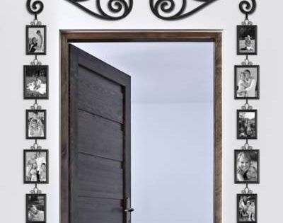 Product Image For Frame And Scroll 12 Piece Set 4 Out Of Frame Wall Collage Door Picture Frame Picture Frame Sets