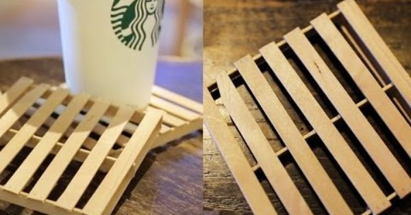 Diy Mini Pallet Coaster Youtube Video By Thesorrygirls