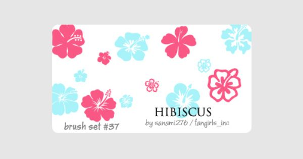 Cute Free Hibiscus Brushes