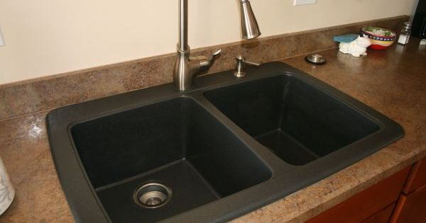 How To Clean Stone Sink : How to clean your black granite composite sink- first using the ...