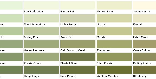 Lowes Sage Green Color Chart Valspar Lowes American