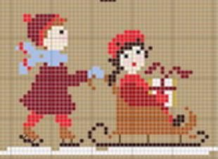 Collection Bonheurs D Enfance Noelgrille Point De Croixcreation Perrette Samouiloff Christmas Cross Stitch Cross Stitch Patterns Cross Stitch