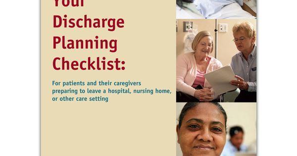 your discharge planning checklist cms hospital readmission care coordination pinterest. Black Bedroom Furniture Sets. Home Design Ideas
