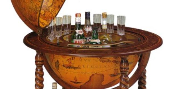 Old World Bar Globe For Liquor Storage Home Decor