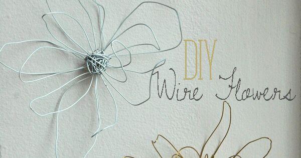 Free DIY Wire Flower Tutorial