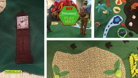 How I Made A Felt Dinosaur Play Mat For My Son Dinosaur Play Felt Diy Kids Playing