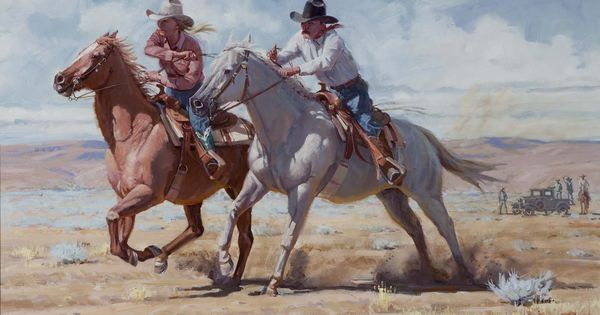 Western Artist Fred Fellows Oil Paintings For Sale