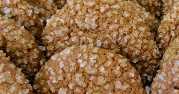 Ginger Drops with three kinds of ginger: candied ginger, ground ginger ...
