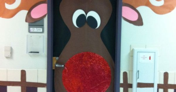 Door idea porte de classe pinterest renne soir es for Decoration porte renne