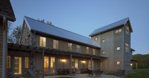 Standing Seam Multiple Siding Materials Modern Gable Farmhouse Exteriors Pinterest