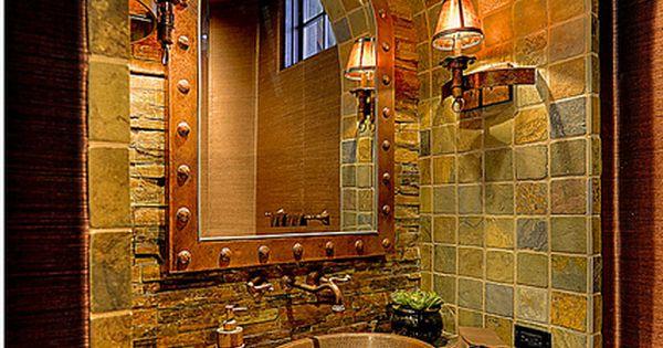 Barrel tile ceiling- Powder Room by Eagles Nest Living