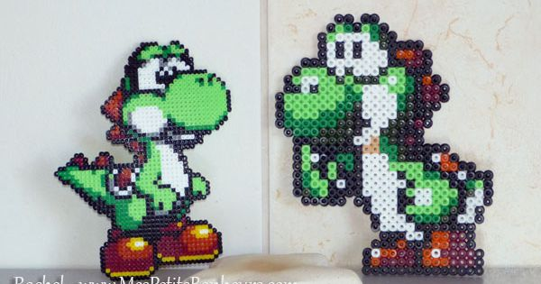 yoshi en perles hama mini et midi mario bros hama pinterest yoshi hama mini and perler beads. Black Bedroom Furniture Sets. Home Design Ideas