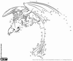 Ausmalbilder Von Punkt Zu Punkt Des Drachenzahmen Leicht Gemacht 2 Hicks Mit Seinem Geflugelten Drachen Ohnezah Fete Theme Dragon Krokmou Dinosaure A Colorier