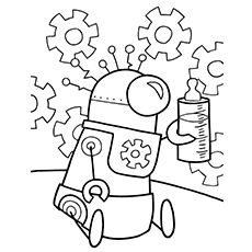 20 Cute Free Printable Robot Coloring Pages Online Coloring Pages Robots Drawing Robot Theme