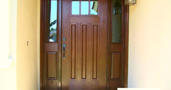craftsman style entry door system therma tru fiberglass model fim608