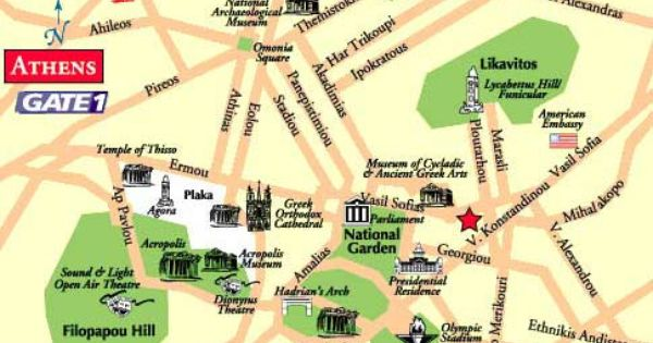 athens metro map Google Search G R E E C E – Athens Tourist Attractions Map