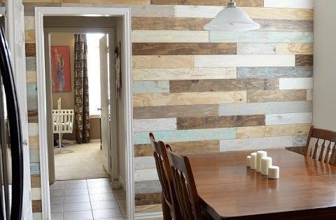 This Quot Reclaimed Plank Quot Wall Is Actually Made From Plywood