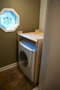 Stacking Washer Dryer Diy Wood Frame Laundry Room Storage