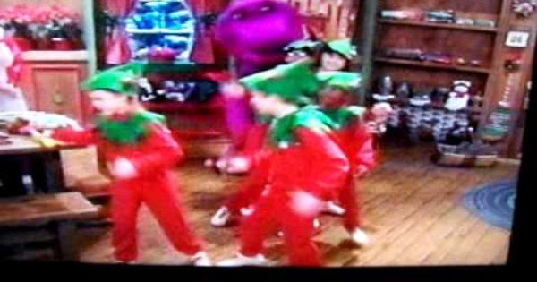 Barney Christmas Elf Dance It S Scary How Well I Remember This Barney Christmas Childhood Memories Christmas Elf
