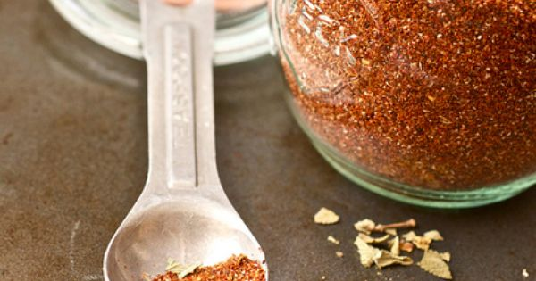 Homemade taco seasoning mix: 1/4 cup ancho chili powder 1 tsp garlic