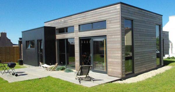 maison cubique pr s des abers salon maison bois angers extension pinterest salons. Black Bedroom Furniture Sets. Home Design Ideas