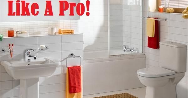 Step by step instructions to a clean bathroom. Good tips!