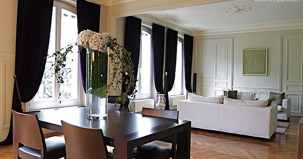 Mod le rideaux deco pinterest mod le haussmannien for Decoration interieur haussmannien